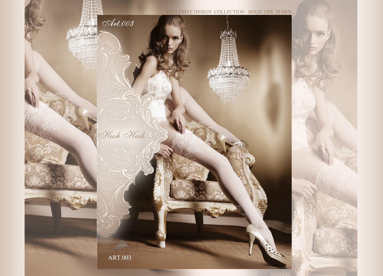 ballerina 003 dotted halterlose str mpfe in weiss. Black Bedroom Furniture Sets. Home Design Ideas
